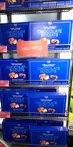 M&S 500g Extremely Chcolatey Milk, Dark & White Chocolate biscuits (Blue Box) - Half Price £3 @ M&S Instore