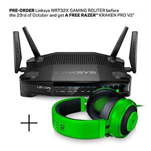 Free Razer Kraken Pro v2 Headset when purchasing a selected Linksys WRT32X-UK Router - £249.99 @ Amazon