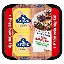 Stork Original Spread 2 x 500g + Free Baking Tin - £2 @ Iceland