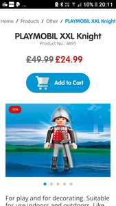 Playmobil xxl knight (65cm Tall) - £24.99 (+£2.95 Del) @ Playmobil