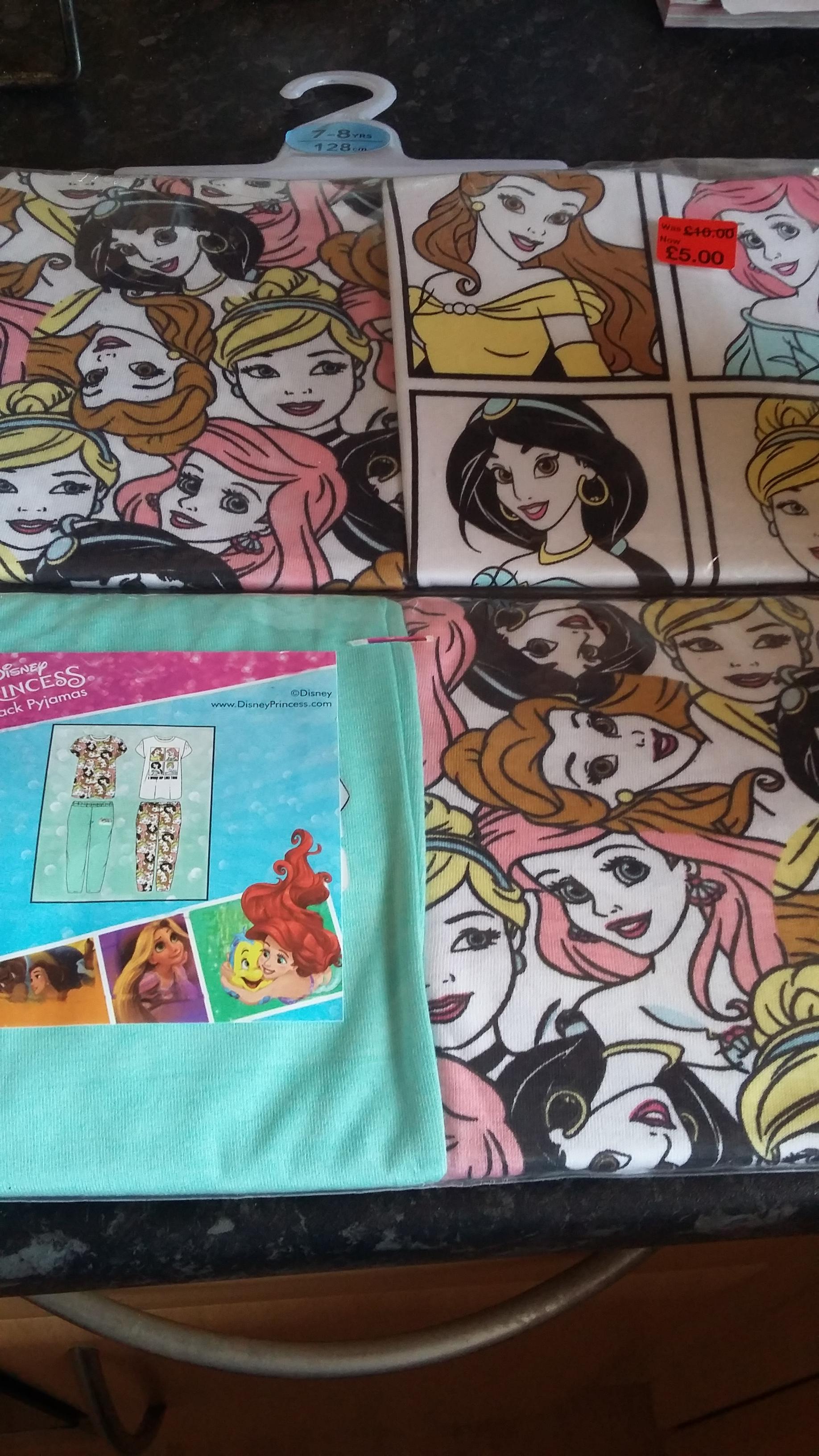 PRIMARK Disney Princess Cotton Pyjamas x 2 pairs for £5 instore (Livingston)