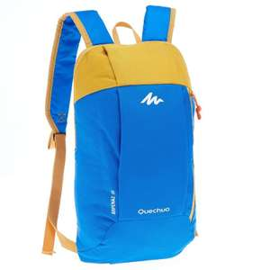 QUECHUA Arpenaz 10 L Day Hiking Backpack - Blue/Yellow for £0.79 and free collect @ Decathlon