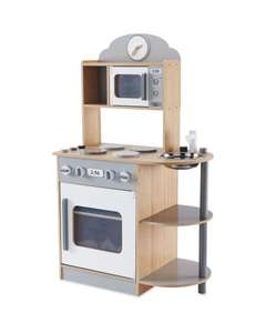 Wooden Kitchen Available In Pink Also - £29.99 @ ALDI