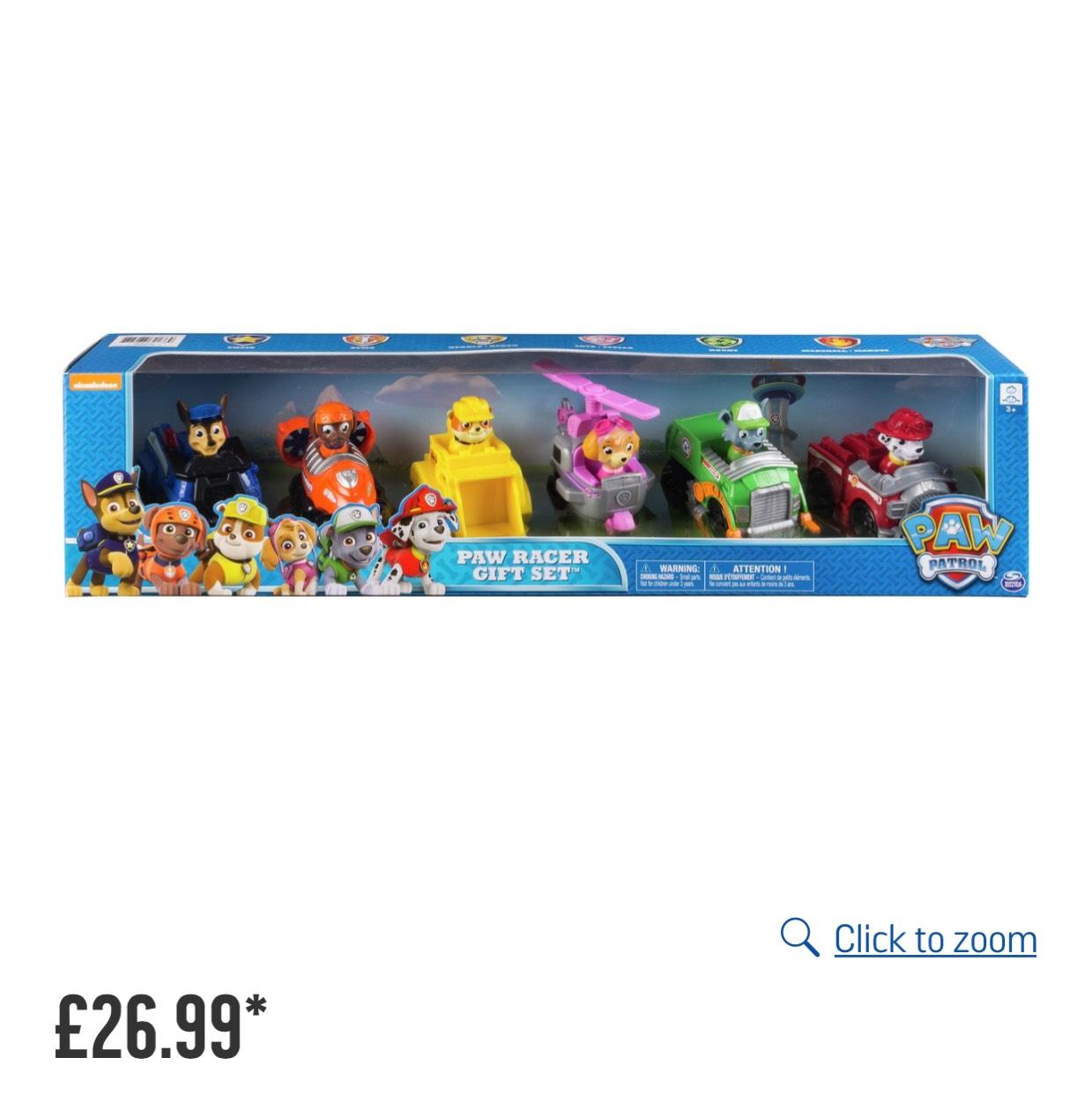 Paw patrol racer gift set £26.99 @ Argos
