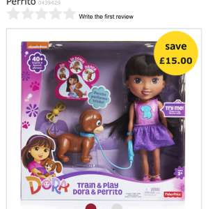 Nickelodeon Train and Play Dora and Perrito £15 @ Wilko