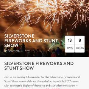 SILVERSTONE FIREWORKS AND STUNT SHOW tickets for £12