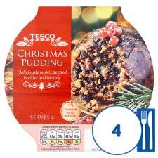 Tesco Christmas Pudding  2 x 454 (908) grams for £3