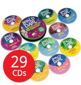 Roald Dahl Audio Collection in a Tin - 29 CDs (Collection) £15.99 delivered with codes @ The Book People