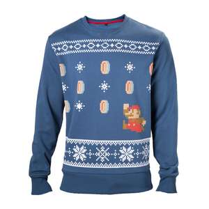 Mario Christmas Jumpers now reduced to £17.49 at Official Nintendo Store (good sizes and also a green option in S) plus £1.99 delivery or free when you spend £20 (few top-up items available)