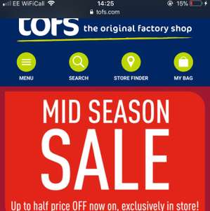 The original factory shop mid season sale