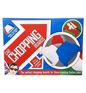Retro Car (Mini) Chopping Boards 3 Pack (Red/White/Blue) £4.75 Based On A Minimum £5 Ex Vat Spend (Otherwise £7.75) @ CPC