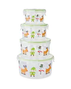 Set of 4 Crofton Christmas Round Containers (300ml + 600ml + 1L + 1.6L / Set of 4 Sqaure 300ml + 750ml + 1.4L + 2.5L just  £3.99 Del @ Aldi (more in OP)