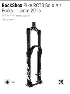 Rock shox Pike RCT3 160mm mountain bike suspension fork down to £404.99 @ CRC chain reaction