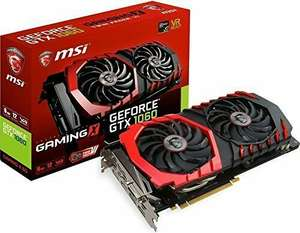 MSI NVIDIA GeForce GTX 1060 GAMING X 6 GB GDDR5 Memory PCI Express 3.0 Graphics Card £249 Only for Amazon Prime Members