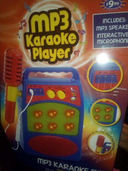 MP3 Karaoke Machine. £9.99 B&M