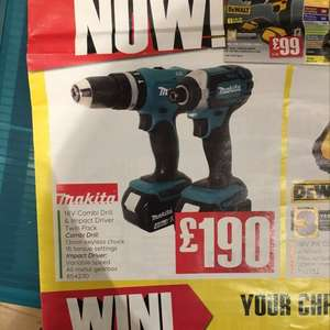 Makita 18v twin set £228 @ TradePoint