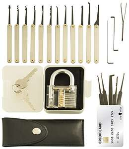 20 piece lock picking kit £13.97 Prime / £17.96 Non Prime @ Amazon - Sold by On Time Fox and Fulfilled by Amazon