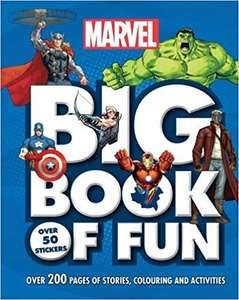 Marvel Big Book of Fun: Over 200 Pages of Stories, Colouring and Activities, with Over 50 Stickers only £3 Free C&C @ Tesco
