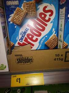 415 g packs of Nestle Original Shreddies for £1.00 were £2.06 instore @ Morrisons
