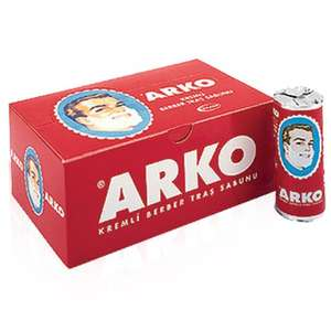 Full Box (75g x 12 Pieces) Arko Shaving Cream Soap Stick, £8.99 (Prime), £12.94 (Non-Prime) - Sold by Shavingworld / Fulfilled by Amazon