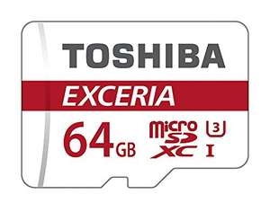 Toshiba 64GB U3 Micro SD Card + Adapter £17.79 @Amazon (£21.78 non prime)