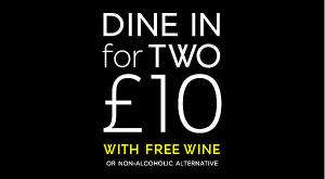 Surprise! It's Back!  Dine in for 2 at M&S - £10 Meal deal - Main, Side,  Dessert with Free Wine