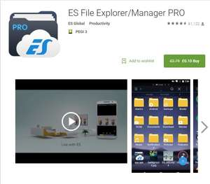 ES File Explorer/Manager PRO (Ad free version) - £ 0.10 @ Google Play