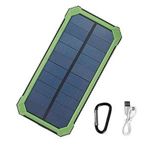 10000MaH power bank with built in solar charger £9.99 Prime / £13.98 Non Prime @ Amazon (Sold by Wollhuuse-UK and Fulfilled by Amazon)