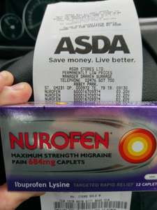 Nurofen Max Trength was £4.59 Now 20p instore Asda Pharmacy