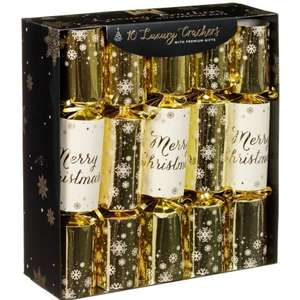 Luxury Gift Crackers 10pk - Gold instore at B&M for £4.99