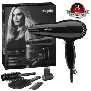 BaByliss Powerlight 2000 Dryer gift set now £20 @ Landys Chemist