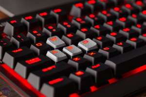 Corsair STRAFE Cherry MX Blue Red Backlit Mechanical Keyboard at Amazon for £69.95