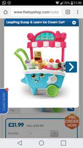 Leapfrog scoop and learn ice cream cart at The Toy Shop/Entertainer for £31.99