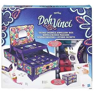 Doh Vinci Secret Sparkle Jewellery Box Kit, RRP £29.99 - £9.99 @ Amazon Prime exclusive