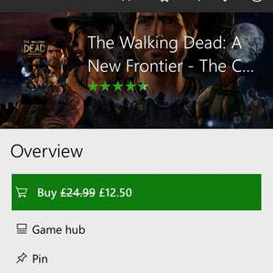The Walking Dead: A NewF Frontier - Tell Tale Series - £12.50 @ Microsoft Store