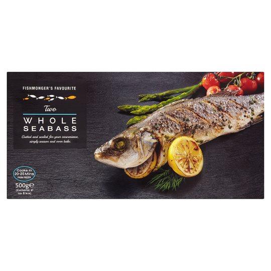 Fishmongers Favourite Whole Seabass 500G (2 per pack) £2.50 @ Tesco