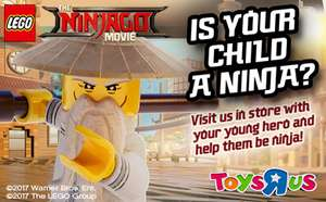Free LEGO Ninjago Make & Take between 11am- 1pm instore Selected Toys R Us Stores Sat 28th October