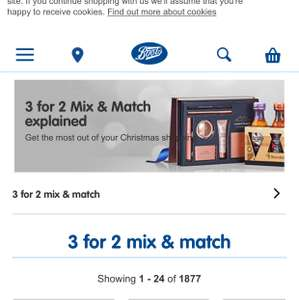 3 for 2  mix and match at boots - Prices start at £1
