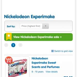 All Nickelodeon Experimake HALF PRICE £10 normally £20 at The Entertainer - Free c&c