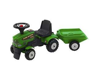 Green Tractor Ride On with Trailer £24 @ Tesco Direct (Free C&C)