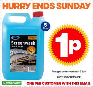 JTF another amazing penny deal 5 litre screenwash 1 pence