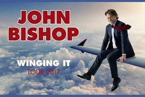 John Bishop tour tickets £15 each including booking fee, and no delivery fees, collect tickets from box office