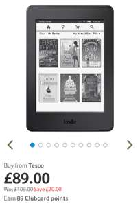Amazon Kindle Paperwhite - £89.00 from Tesco