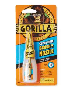 Gorilla Super Glue Brush and Nozzle (12g) @ Aldi