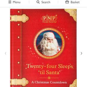 Portable North Pole Twenty-Four Sleeps 'til Santa Christmas Storybook PLUS Includes a code to create a personalised message from Santa - £13.50 delivered @ John Lewis