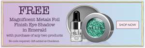 Free (worth £33.50) Magnificient Metals foil finish eyeshadow in Emerald with purchase with two products @ Stila uk