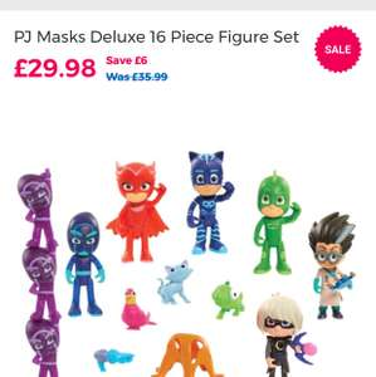 PJ Masks Deluxe 16 Piece Figure Set £29.98 @ toysRus (C&C)