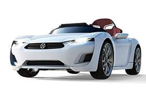 dual 12v kids ride on car, with android tablet, sat nav(!), leather seat, bluetooth - £583 @ Amazon