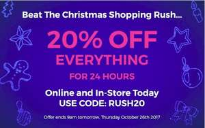 20% off everything at The Fragrance Shop until Thursday 26 October 17 at 9am
