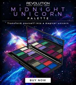 Makeup Revolution Midnight Unicorn Palette / Makeup Revolution Dark Reign Palette were £6 now £4 each & inc in 3 for 2 with Free PomPom + Free Del @ Superdrug